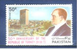 Pakistan 1973  50th Anniversary Of Turkish Republic  MNH - Pakistan