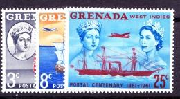 Grenada, 1961, 208 - 210, MNH - Grenada (...-1974)