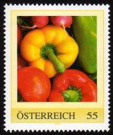 ÖSTERREICH 2009 ** Paprika, Tomaten, Radieschen - PM Personalized Stamp MNH - Ernährung