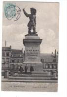 Dunkerque Statue De Jean Bart  ( Café A La Belle Vue De La Place , Ancienne Maison Avant Voix Du Nord - Dunkerque