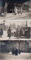 Lot De 3 Cartes Photo ,occupation  Pless Pologne ..quai De Gare , Et Diverses Animees - Guerre 1914-18
