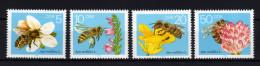 DDR 1990 ** Honigbienen, Honeybees, Bees - MiNr.3295-3298 Kompletter Satz MNH - Honeybees