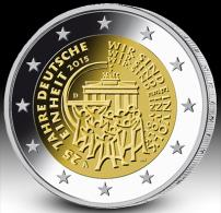 ALLEMAGNE - 2 Euro 2015 - 25e Anniversaire De La Réunification De L'Allemagne - UNC!!! - Allemagne