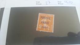LOT 267530 TIMBRE DE FRANCE OBLITERE N�27 VALEUR 450 EUROS