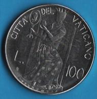 VATICAN  100 LIRE 1980 / II  Jean Paul II    KM# 146 - Vaticano (Ciudad Del)