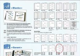 "Feuilles SAFE ""Garant"" N° 723 Paquet De 5 Feuilles Emballage D'origine - Album & Raccoglitori"