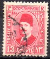 EGYPT 1927 King Fuad - 13m - Red  FU - Usati
