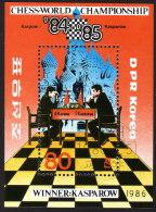 Nord KOREA 1986 - Schach WM In Moskau, Chees / Karpow : Kasparow - Block 212 - Schach