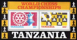 TANSANIA 1986 ** Schach WM /  Chees & Rotary - Block 54 MNH - Schach
