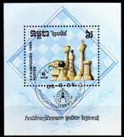 KAMBODSCHA 1986 - Schach, Chees - Block 149 - Schaken