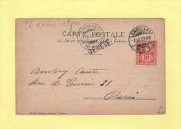 Ambulant N°1 - Geneve - 1903 - 1882-1906 Armarios, Helvetia De Pie & UPU