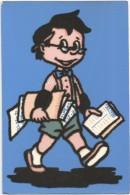 E3425 Cartolina A Rilievo - Materiale Speciale - Stoffa - Humor - Piccolo Contabile - Aliprandi Editore / Non Viaggiata - Cartoline
