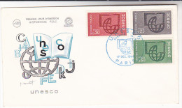 1966 FRANCE UNESCO Stamps FDC Un United Nations Cover - FDC