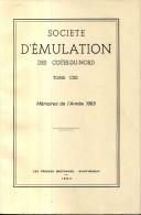 Bulletin Societe Emulation Des Cotes Du Nord Tome 112 Editions De 1984 Saint Rion Bourbriac Boquen - Bretagne