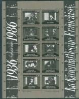 France 1986 - La Cinematique Francaise - BF 9, Neuf**, Non Plie - Sheetlets