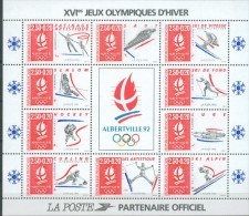 France 1992 - Jeux Olympiques D'hiver, Albertville - BF 14, Neuf**, Non Plie - Sheetlets