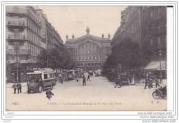Cpa Réf-JPS-992 (  Dép 75 ) Les Vieux BUS Du Boulevard Denain Et La Gare Du Nord .à PARIS - France
