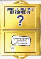Boomerang Dubbelekaart - Duik Jij Met Mij De Koffer In? Nationale Post Loterij. Amsterdam.  2 Scans - Reclame