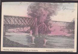 Warschau Warszawa Polen Sprengung Der Kierbedz-Brücke Most Kierbedzia CAK  Eisenbahnbrücke - Polen