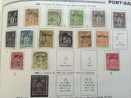 COLONIES FRANÇAISES PORT-SAÏD: Collection De Timbres Bureau Français 1899/1930 - France (former Colonies & Protectorates)