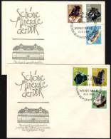 DDR 1969 - Mineralien - 2x FDC Mit Sonderstempel, Kompletter Satz - Mineralien