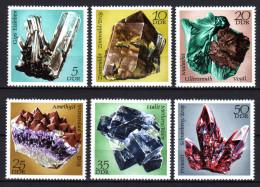 DDR 1972 ** Mineralien - Kompletter Satz MNH - Mineralien