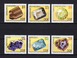 DDR 1974 ** Mineralien - Kompletter Satz MNH - Mineralien