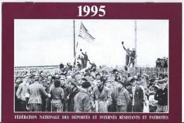 Calendriers  Et Carte ,menu,fédération Des Déportés,internés,résistants Et Patriotes 1995 - Calendars