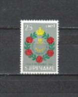 Suriname 1964 Geschichte Verwaltung Statut Königreich Niederlande Blumenkranz Blumen Krone Faja Lobbi, Mi. 454 ** - Suriname