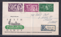 Great Britain 1958 British Empire & Commonwealth Games FDC - FDC