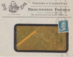 FRANCE 1932 ENVELOPPE ILLUSTREE PAPIER A CIGARETTES ZIG ZAG