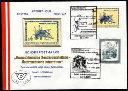 ÖSTERREICH 1986 - Mineralien Antimonit - 2 Sonderstempel FDC - Mineralien