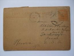 EGYPT 1920 POSTCARD LUXOR TO ST.MARY`S PENNSYLVANIA USA - 1915-1921 Protectorat Britannique
