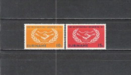 Suriname 1965 Geschichte Organisationen Vereinte Nationen Zusammenarbeit UNO ONU Hände Lorbeerkranz, Mi. 460-1 ** - Suriname