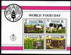 TANSANIA 1982 ** World Food Day - Block 30 MNH - Ernährung