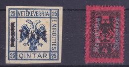 Albanie - 2 Two Stamps Taxe Tax Taks - Albanie