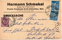ALLEMAGNE CARTE INFLATION PREUSSISCH-FRIEDLAND 1923 - Germania