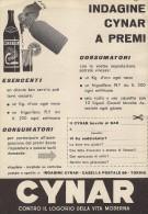 # CYNAR 1960s Advert Pubblicità Publicitè Reklame Food Drink Liquor Liquore Liqueur Licor Alcohol Bebidas - Manifesti