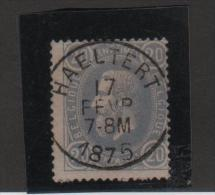 TP 31 L�opold II c.Haeltert 17/2/1875 SUPERBE P96P
