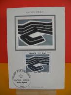 FDC- Carte Maxi, Raoul Ubac - Paris - 2.2.1980 - 1er Jour, Coté 2,50 € - Cartes-Maximum