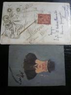 ACQUI -Alessandria 1893 2 Giugno- Studio Gariglio Foto Antica Tecnica Su Vetro Spedita In Bustina A Termoli Rara - Foto