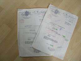 Ancienne Facture Lot 3 Salier Morue Secherie Begles - Francia