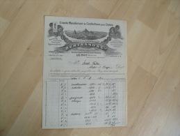Ancienne Facture  Illustree Le Puy En Velay Bertrand Confection Pour Dames Usine Brives - France