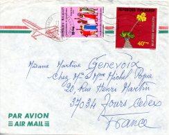 MADAGASCAR. N�565 de 1975 sur enveloppe ayant circul�. Fleur.