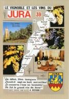 Carte Géographique Du JURA - Le Vignoble Et Les Vins, Blason, Multivues, Couteau Opinel - U. 758033 - Edit. CELLARD - TB - Maps