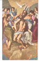 POSTAL    MUSEO DEL PRADO (MADRID)  Nº 1062.-  JESUCRISTO DIFUNTO EN BRAZOS DEL PADRE ETERNO -EL GRECO - Museos