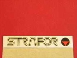 Autocollant, Sticker - STRAFOR     (643 P22) - Stickers