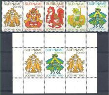 1980 SURINAM 801-5+ BF 31** Enfance, Anansi, coq stylis�