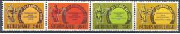 1981 SURINAM 814-17** Ordres, éducation - Surinam