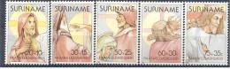 1981 SURINAM 818-22**  P�ques, christ